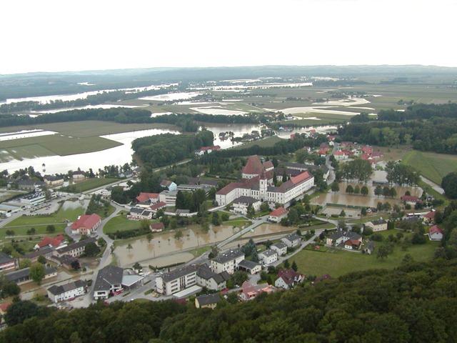 Hochwasser 2002 - Baumgartenberg Ortszentrum