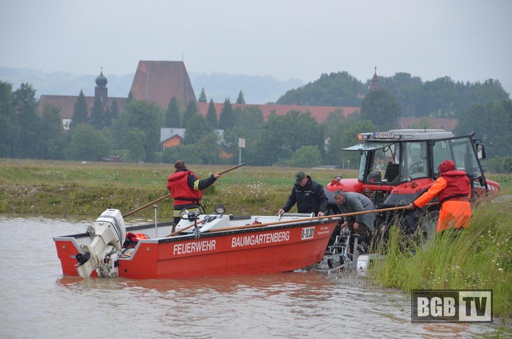 Hochwasser 2013 - A-Boot wassern